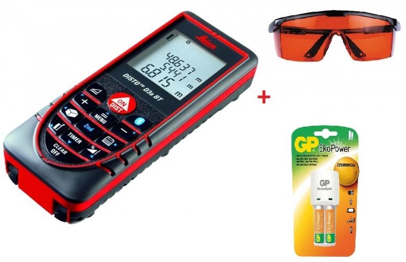Laser. dálkoměr DISTO D3a BT + nabíječka + baterie + brýle